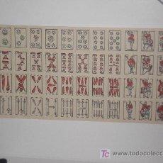 Barajas de cartas: PLIEGO DE CARTAS EN MINIATURA . Lote 5828593