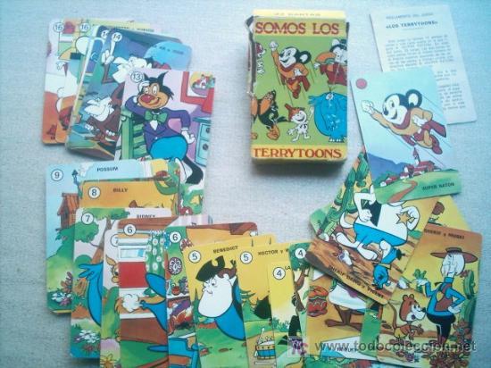 SOMOS LOS TERRYTOONS / 33 CARTAS 6X9CM HERACLIO FOURNIER 1976 (Juguetes y Juegos - Barajas - Barajas Infantiles)