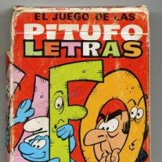 Barajas de cartas: EL JUEGO DE LAS PITUFO LETRAS COMPLETA 40 CARTAS EDICIONES RECREATIVAS. Lote 34749405
