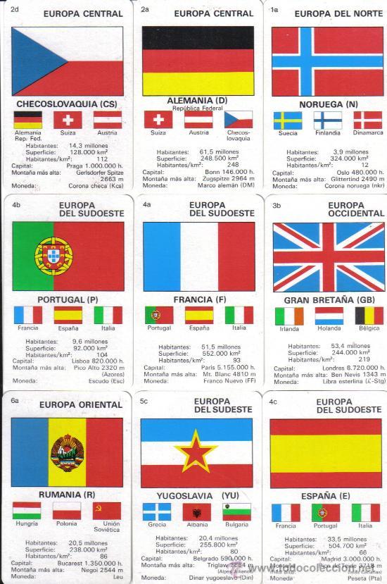 baraja infantil de las banderas de europaao 1  Comprar Barajas