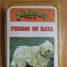 Barajas de cartas: BARAJA INFANTIL. MINICART. PERROS DE RAZA. NAIPES COMAS. COMPLETA. 24+1 CARTAS.. Lote 92382125