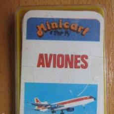 Barajas de cartas: BARAJA INFANTIL. MINICART. AVIONES. NAIPES COMAS. COMPLETA. 24+1 CARTAS.. Lote 92382402