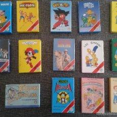 Barajas de cartas: 14 JUEGOS DE CARTAS INFANTILES SIN USAR: MICKEY MOUSE, HE-MAN, DRAGON BALL, FRUITTIS, SIMPSON, ETC.. Lote 59981643