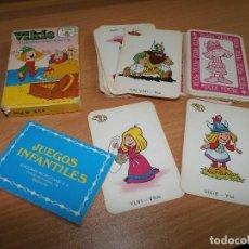 Barajas de cartas: BARAJA DE CARTAS EDICIONES RECREATIVAS JUEGOS INFANTILES VIKIE EL VIKINGO 40 PESETAS COMPLETA. Lote 77086377