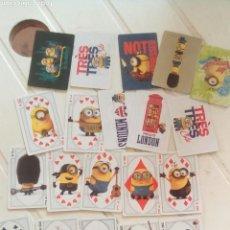 Barajas de cartas: 25 CARTAS MINIONS UNIVERSAL ESTUDIOS. Lote 75989547