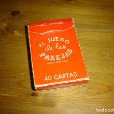 Barajas de cartas: BARAJA CARTAS - EL JUEGO DE LAS PAREJAS. Nº1 ANIMALES . EDITORIAL ZARAGOZANO.. Lote 91658535
