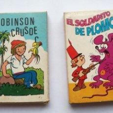 Barajas de cartas: LOTE 2 BARAJAS JUEGO INFANTIL NAIPES COMAS. ROBINSON CRUSOE Y EL SOLDADITO DE PLOMO. COMPLETAS. Lote 94600959