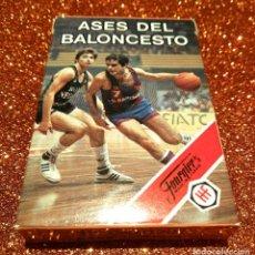 Barajas de cartas: BARAJA ASES DEL BALONCESTO (HERACLIO FOURNIER). SIN USO. AÑOS 80 DEPORTES BALONCESTO COLECCIONISMO. Lote 98568919