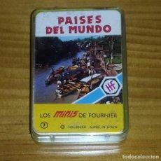Barajas de cartas: MINI BARAJA DE CARTAS PAÍSES DEL MUNDO . Lote 98716871