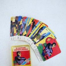 Barajas de cartas: MINIS 10. EL HOMBRE ENMASCARADO BARAJA 25 NAIPES EN ESTUCHE HERACLIO FOURNIER, S.A., 1978. Lote 101087567