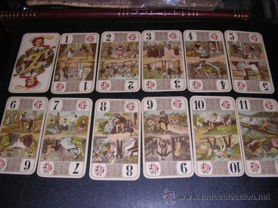 Barajas de cartas: BARAJA DE TAROT COMPLETA - FRANCESA 1890 - DIBUJOS CON ESTILO DE UN TAROT GERMANO ( ANTIGUA ) - Foto 2 - 22442988