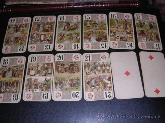 Barajas de cartas: BARAJA DE TAROT COMPLETA - FRANCESA 1890 - DIBUJOS CON ESTILO DE UN TAROT GERMANO ( ANTIGUA ) - Foto 3 - 22442988
