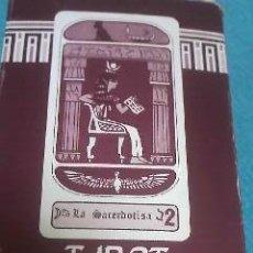 Barajas de cartas: CARTAS DEL TAROT EGIPCIO ADIVINATORIO FABRICADO POR NAIPES COMAS BARCELONA. Lote 39940388