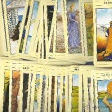 Barajas de cartas: EL TAROT MITICO - JULIET SHARMAN-BURKE Y LIZ GREENE CON LIBRO Y TAPETE VER FOTOS. Lote 42598537