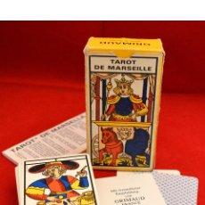 Barajas de cartas: BARAJA CARTAS TAROT DE MARSEILLE 1986 COMPLETO CON INSTRUCCIONES ESPAÑOL. Lote 56156502