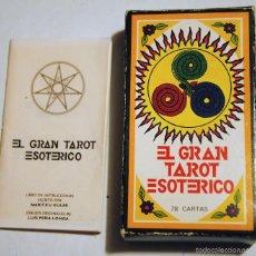 Barajas de cartas: CARTAS TAROT EL GRAN TAROT ESOTÉRICO. Lote 90203072