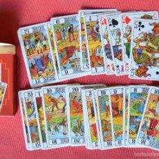 Barajas de cartas: ARCANOS Y CABALLOS DEL JUEGO DEL TAROT - NAIPES FOURNIER . Lote 58875776