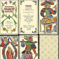 Barajas de cartas: BARAJA SPANISH TAROT ESPAÑOL, COMPLETA SIN ESTRENAR EN ESTUCHE CARTON RIGIDO 78 + EXPLICACIONES.. Lote 100995702