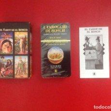 Barajas de cartas: EL TAROT DE EL BOSCO, PRECINTADO EN ESPAÑOL. Lote 93599550