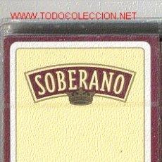Barajas de cartas: BARAJA ESPAÑOLA * COÑAC SOBERANO *. Lote 23993922