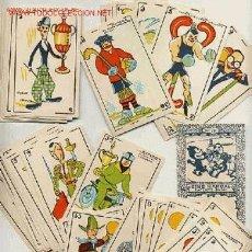 Barajas de cartas: PRECIOSA BARAJA COMICO ARTISTICA DEPORTIVA, AÑOS 1930, EL REVERSO ES CINE MANUAL DEL GATO FELIZ. Lote 118540006