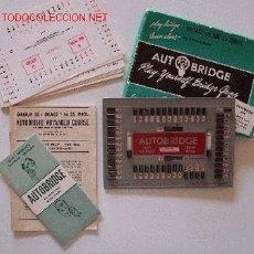 Jeux de cartes: AUTOBRIDGE MADE IN USA AÑO 1957 COMPLETO. CON SU CAJA ORIGINAL. DIMENSIONES 18 X 13 CM. VER FOTO. Lote 24540352
