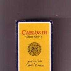 Barajas de cartas: -58996 BARAJA DE CARLOS III, HERACLIO FOURNIER, DE PEDRO DOMECQ, PUBLICITARIA BEBIDAS. Lote 29045219