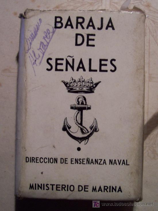 BARAJA DE SEÑALES, DIRECCION DE ENSEÑANZA NAVAL, MINISTERIO DE MARINA, 1972 (Juguetes - Barajas de Cartas - Otras Barajas)