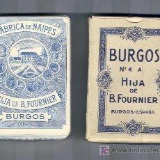 Barajas de cartas: JUEGO DE NAIPES HIJA DE B. FOURNIER. BURGOS. SIN ESTRENAR. C. 1930-1940 ?. Lote 26697263