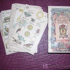 Barajas de cartas: BARAJA SILABICA , NAIPES INSTRUCTIVOS POR JAIME MARGARIT, PALAMOS , PROVINCIA GERONA ,FINALES S.XIX. Lote 23230497