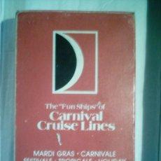 Jeux de cartes: BARAJA DE PÓKER. CARNIVAL CRUISE LINES. PERFECTA, SIN USAR . Lote 4838244