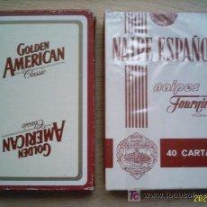Barajas de cartas: BARAJA DE CARTAS. CASA FOURNIER. GOLDEN AMERICAN. 40 CARTAS.TABACO. PRECINTADA. . Lote 37605595