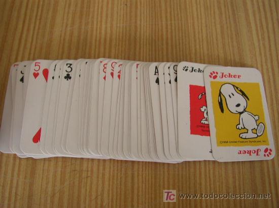 PEQUEÑA BARAJA - SNOOPY- 54 CARTAS. (Juguetes y Juegos - Cartas y Naipes - Otras Barajas)