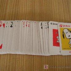 Barajas de cartas: PEQUEÑA BARAJA - SNOOPY- 54 CARTAS.. Lote 25727443
