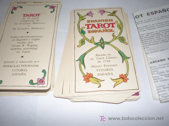 Barajas de cartas: CARTAS DE TAROT FABRICADA EN ESPAÑA POR FOURNIER AÑO 1978 - Foto 2 - 22530052