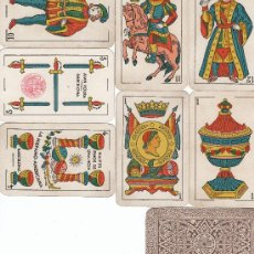 Barajas de cartas: BARAJA CLASICA CON 40 NAIPES FABRICANTE JUAN ROURA, HISPANO-AMERICANA, TIMBRE 1,25 PTA.. Lote 6630029