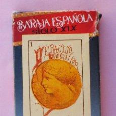 Barajas de cartas: BARAJA ESPAÑOLA SIGLO XIX. HERACLIO FOURNIER. Lote 131693165
