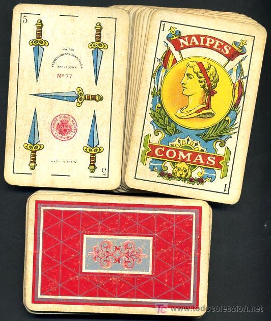BARAJA CLASICA NAIPES COMAS, 48 NAIPES , ANTIGUA (Juguetes y Juegos - Cartas y Naipes - Baraja Española)