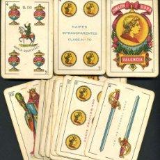 Barajas de cartas: BARAJA NAIPES SIMEON DURA DE VALENCIA, EL CID, CLASICA , PERFECTA , 40 NAIPES , ANTIGUA. Lote 26499714