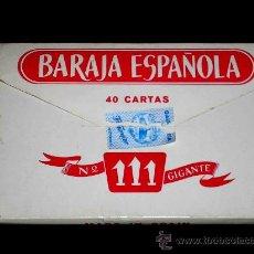 Barajas de cartas: BARAJA Nº 111 GIGANTE FOURNIER COMPLETA, CON SU ESTUCHE Y CASI SIN USO. EXCELENTE ESTADO.. Lote 9155037