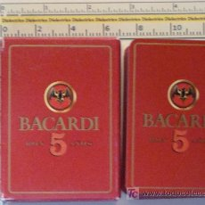 Barajas de cartas: BARAJA DE CARTAS DE POKER. BACARDI RON 5 AÑOS. 54 NAIPES. . . Lote 8512868