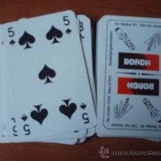 Barajas de cartas: BARAJA DE LA CASA FOURNIER CON PROPAGANDE DE LA CASA DE BROCAS BORGH. Lote 26780463