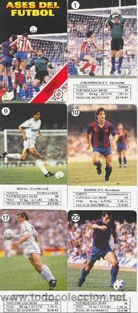 BARAJA ASES DEL FUTBOL NUEVA SIN ESTRENAR CON PRECINTO FOURNIER AÑOS 80 90 (Juguetes y Juegos - Cartas y Naipes - Barajas Infantiles)