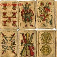 Barajas de cartas - BARAJA DE CARTAS- SEGUNDO OLEA,FABRICA DE NAIPES FINOS,CADIZ,AÑO 1912,USADAS E INCOMPLETA - 12717498