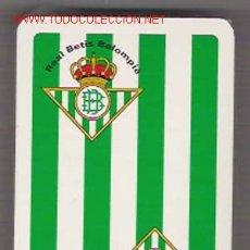 Barajas de cartas: BARAJA TIPO CATALANA, REVERSO PUBLICITARIO DEL REAL BETIS BALOMPIE, FUTBOL, 52 NAIPES. Lote 26311253