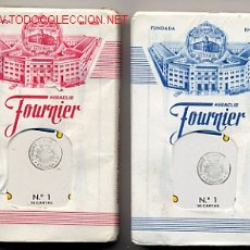 Barajas de cartas: 2 BARAJAS BARAJA FOURNIER, ORIGINALES, CON LOS PRECINTOS , AÑO 1962 , AZUL Y ROJA , RB. Lote 116437748