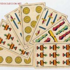 Barajas de cartas: BARAJA ESPAÑOLA , 7 NAIPES, MUY ANTIGUA , SOLO 8 Y 9. Lote 27498839