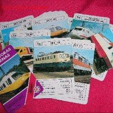 Barajas de cartas: BARAJA DE CARTAS LOCOMOTORAS MODERNAS.1986. Lote 17000327