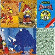 Barajas de cartas: CONDE DUCKULA - HERACLIO FOURNIER - 1991 - 32 CARTAS + 1 CARTA REGLAMENTO. Lote 2507103