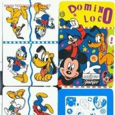 Barajas de cartas: DOMINÓ LOCO - NAIPES FOURNIER - 1995 - Nº CARTAS : 32 + 1 CARTA TARJETA CON EL REGLAMENTO. Lote 2543090